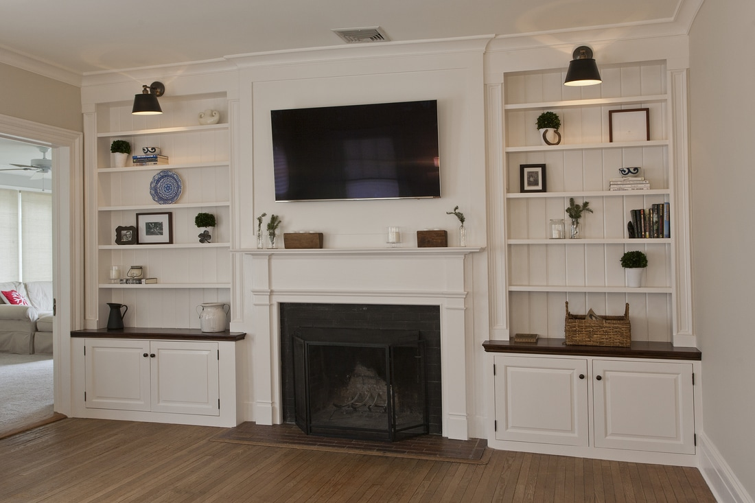 Bookcases kevin lein carpentry for Floor to ceiling cabinets for living room
